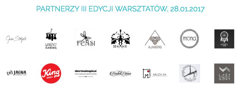 """Partnerzy warsztatów """"W Twoim stylu"""", III edycja 28.01.2017"""